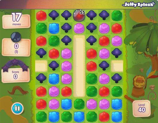 Mushrooms in Jelly Splash don't just make life harder for you, they also act as your primary goal in some levels