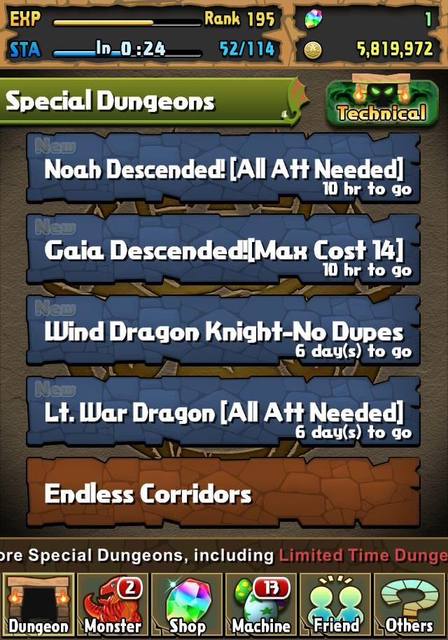 Puzzle & Dragons special dungeons