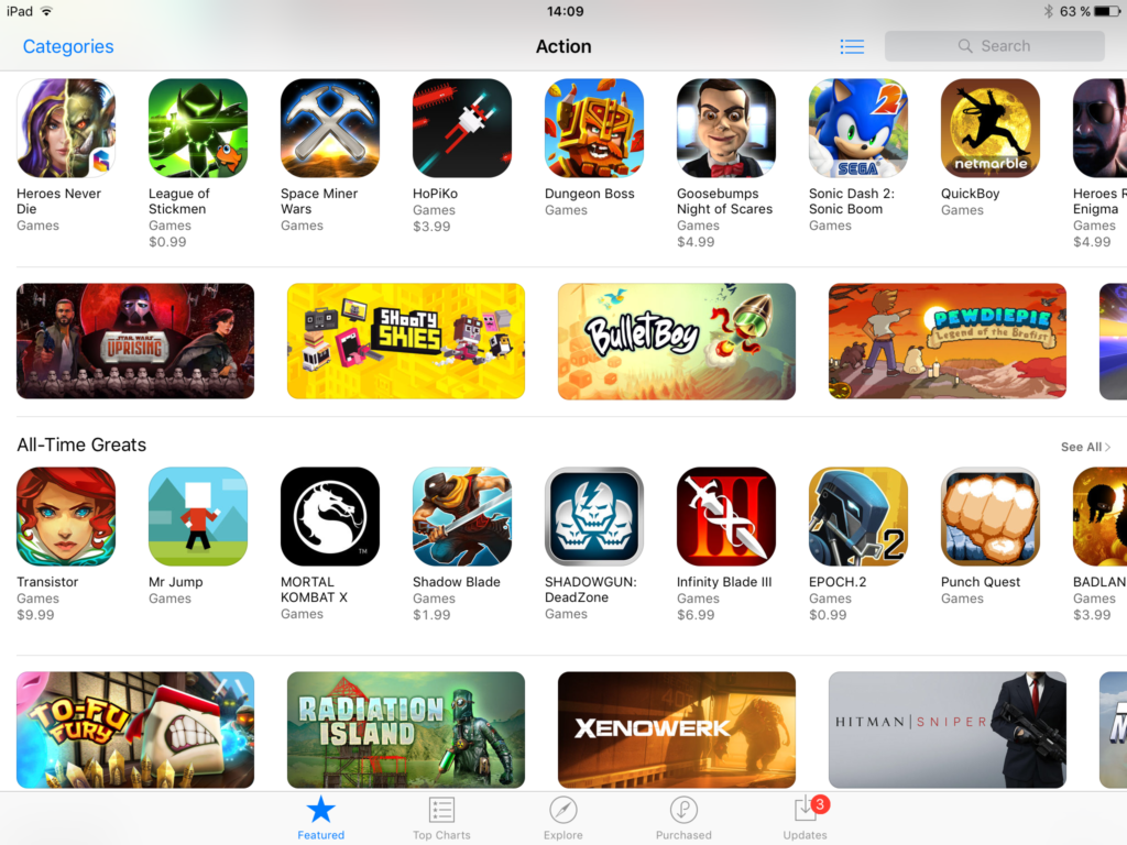AppStore Game Categories