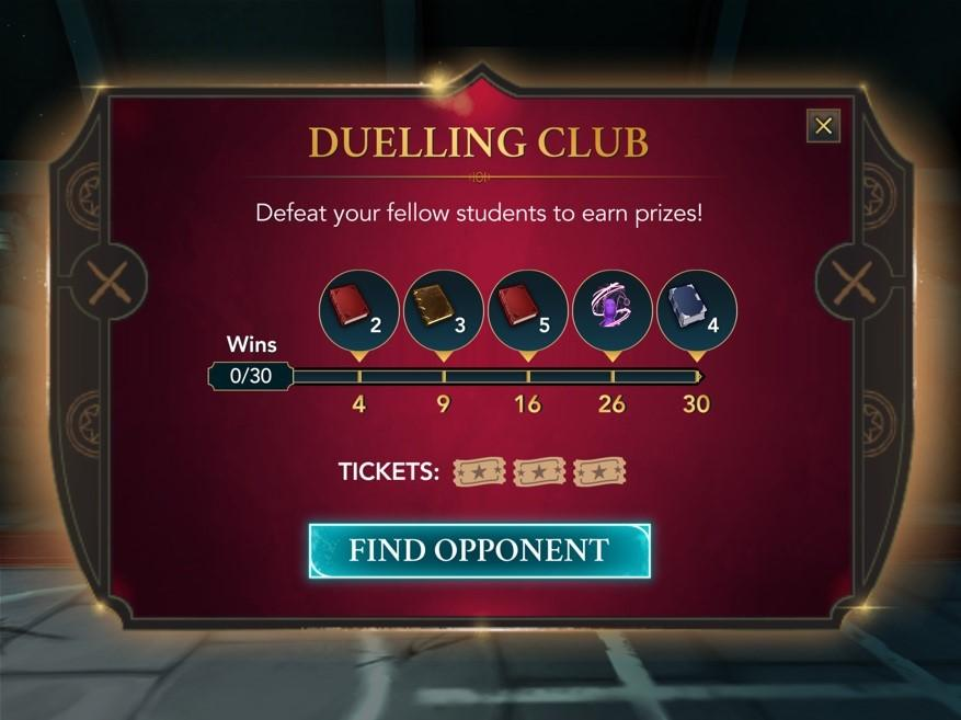 """asynchronous PvP mode called """"Duelling Club"""" in Harry Potter: Hogwarts Mystery"""