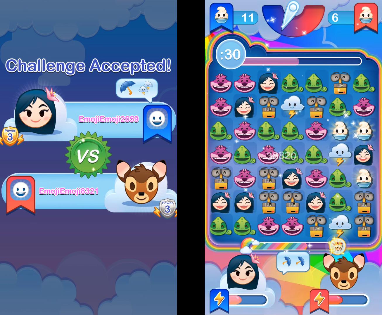 Food Fight Face-Off in Disney Emoji Blitz