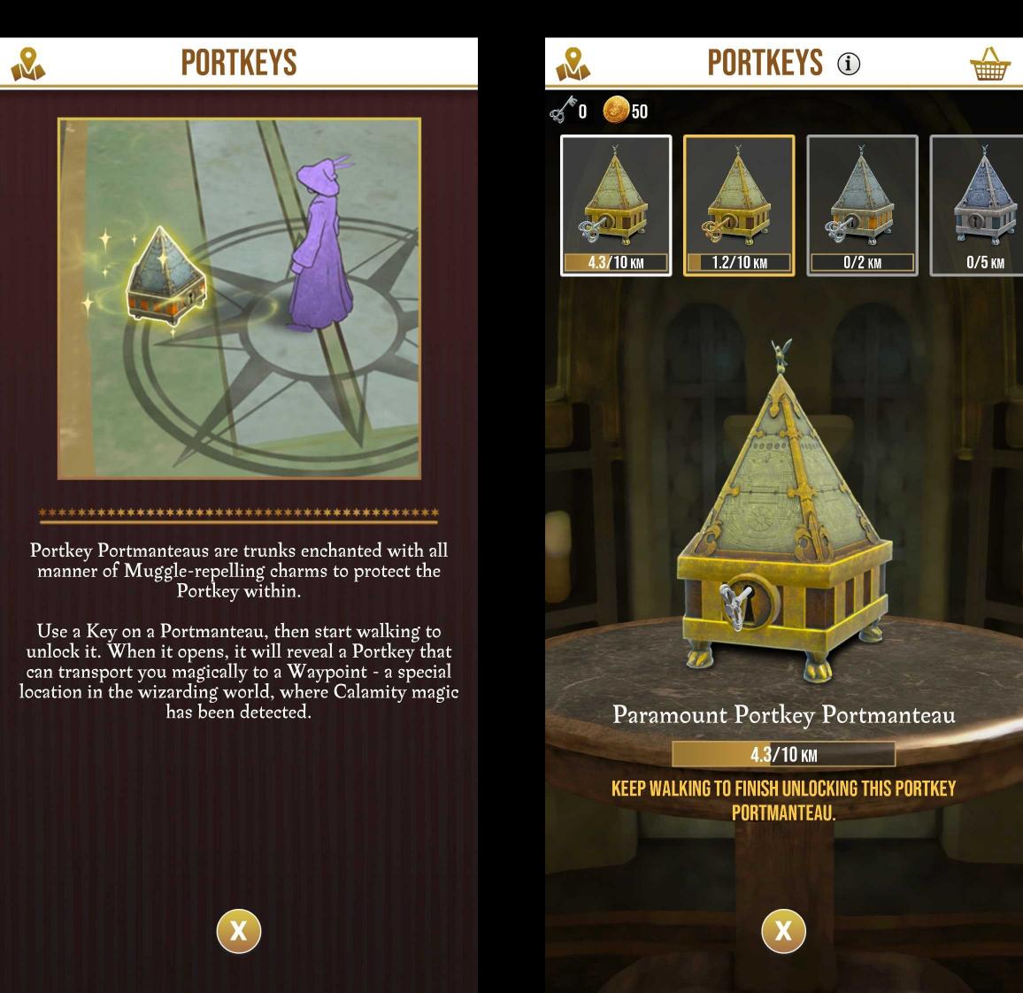 Wizards unite portkeys