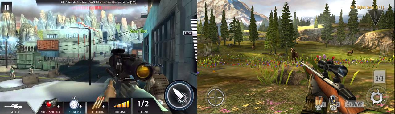 Shooting genre games snapshot
