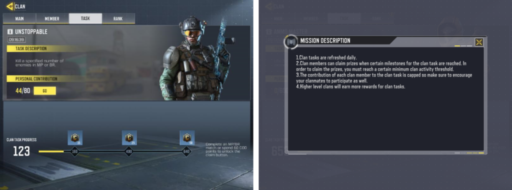 Milestone system in Call of Duty: Mobile