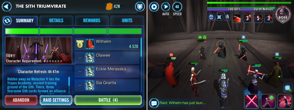 Star Wars: Galaxy of Heroes mobile game uses communal mechanics