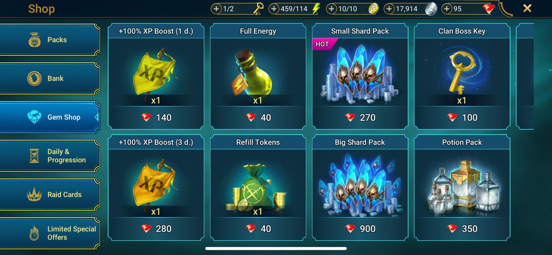 RAID: Shadow Legends Shop