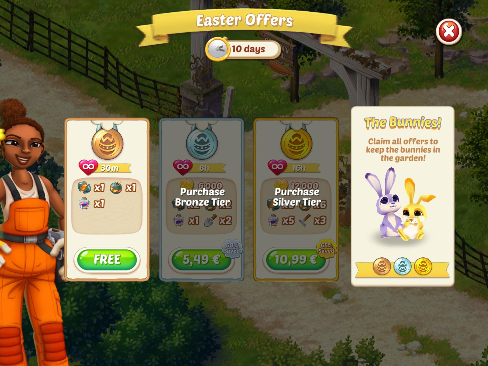 progressive limited time IAP offers in Lily's Garden