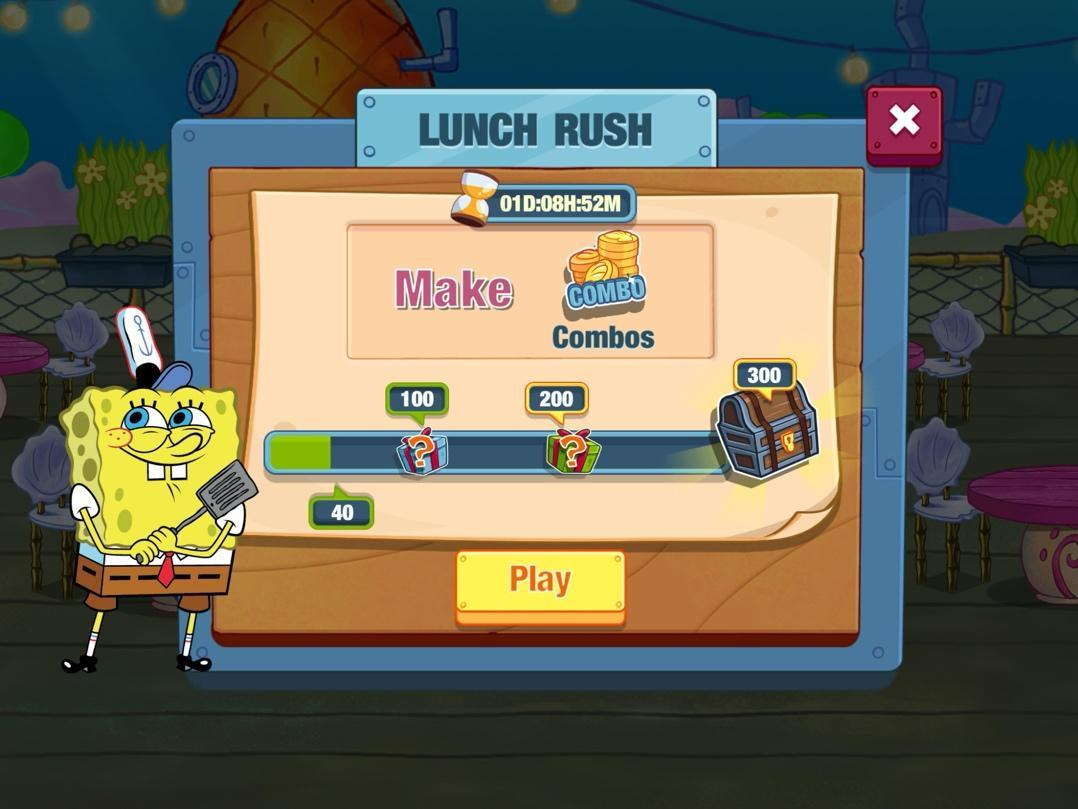 Spongebob: Krusty Cook-off Lunch Rush