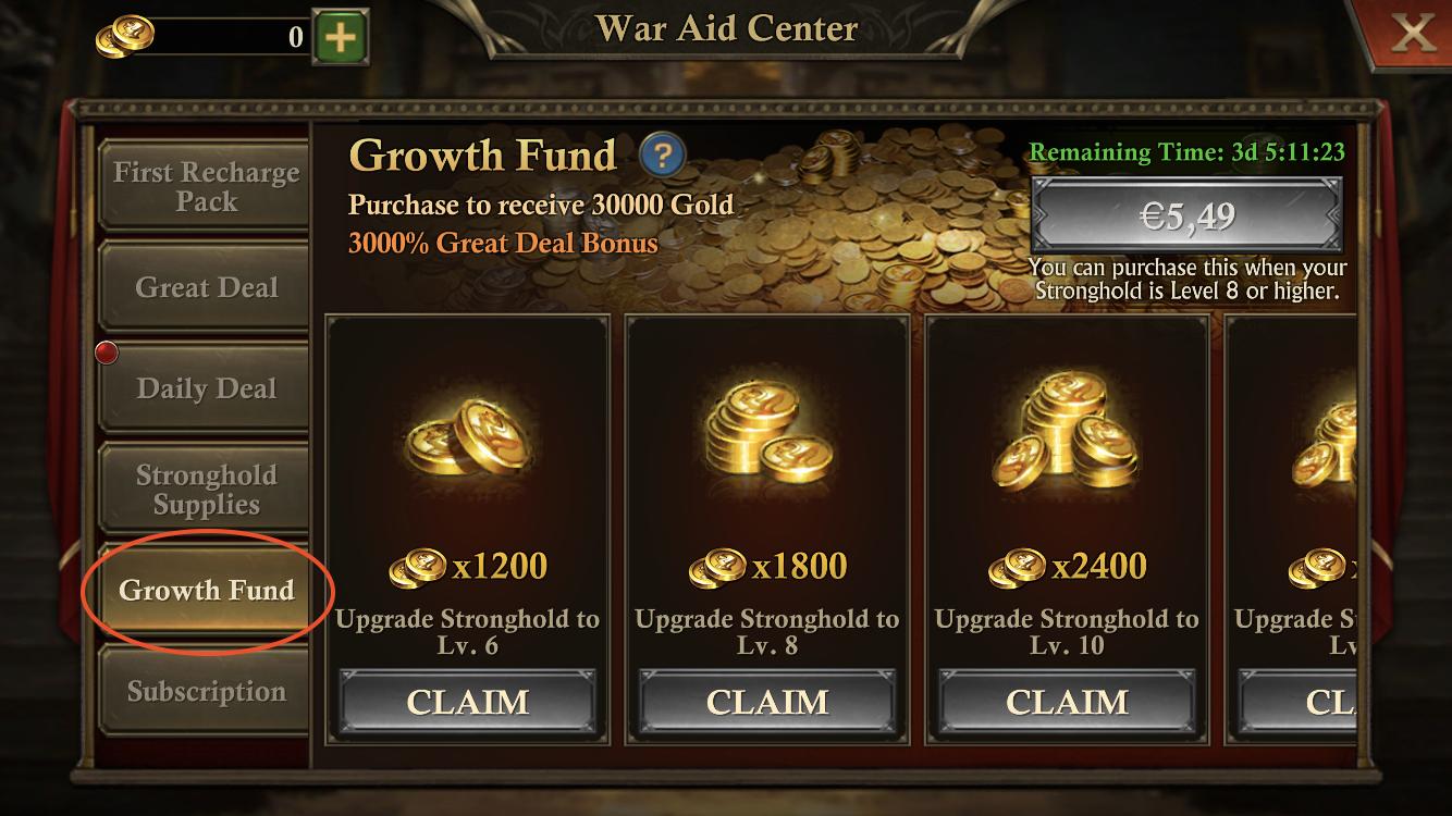 Paid Progression Plan IAP mechanics in King of Avalon
