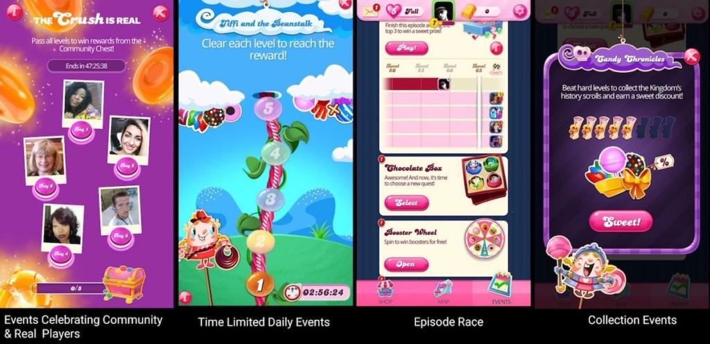 Events and meta goals in Candy Crush