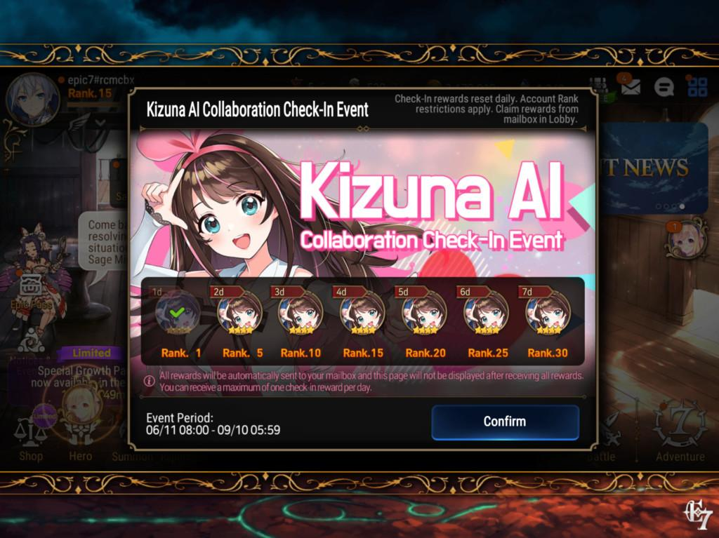 Epic Seven and Kizuna mobile game collaboration event