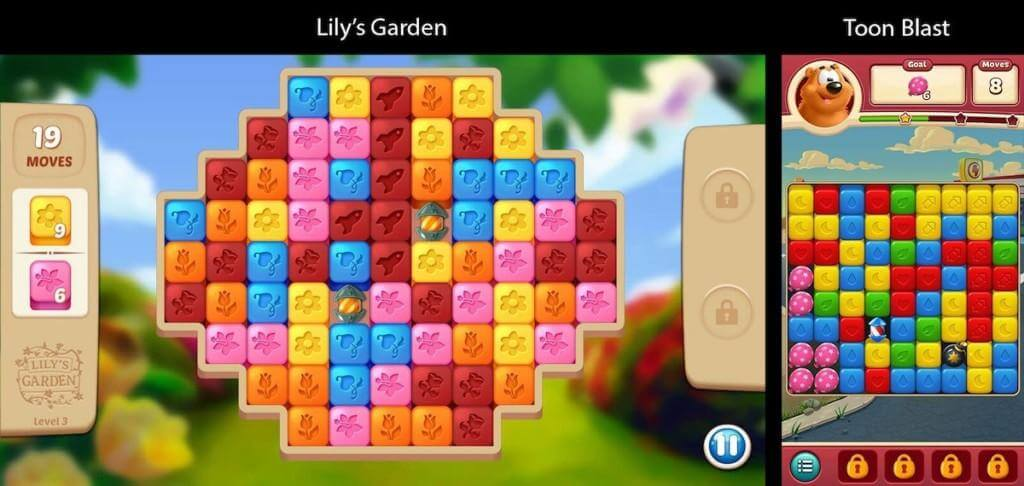 Lily´s Garden collapse game example