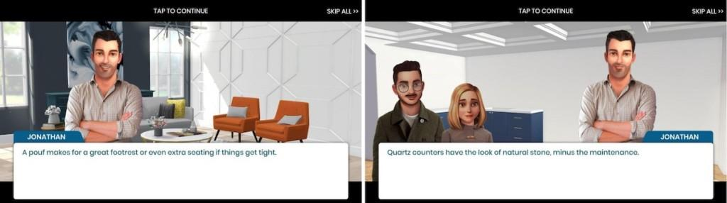 Property Brothers narration in gameplay