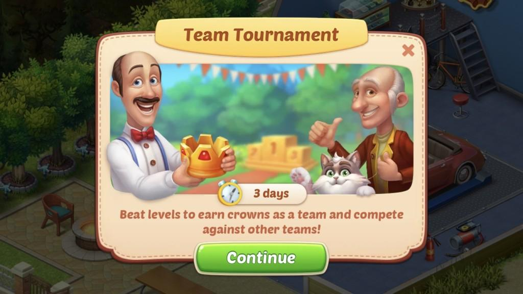Team Tournament in Homescapes