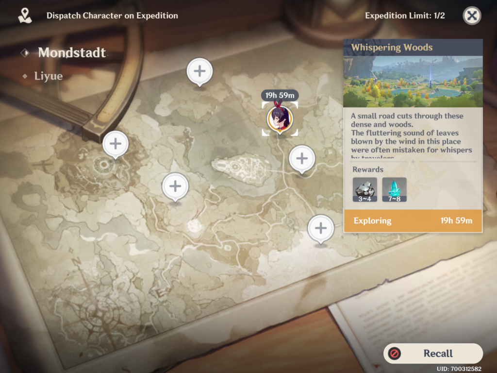 Expedition feature in Genshin Impact