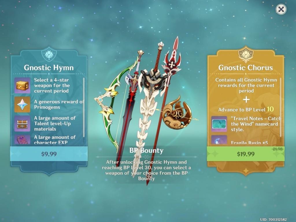 Battle Pass reward in Genshin Impact