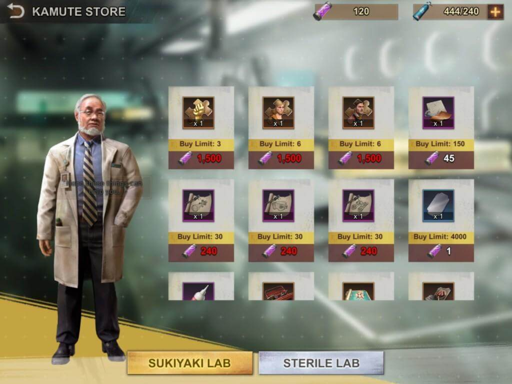 Limited-time shop in State of Survival