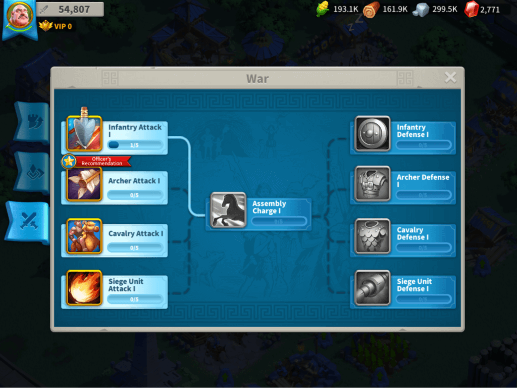 Rise of Kingdoms power progression for Alliances with Technology system