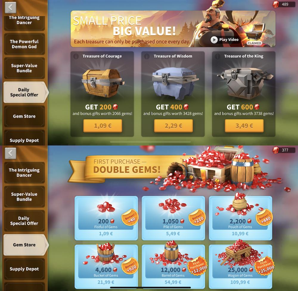 RoK special offer comparison