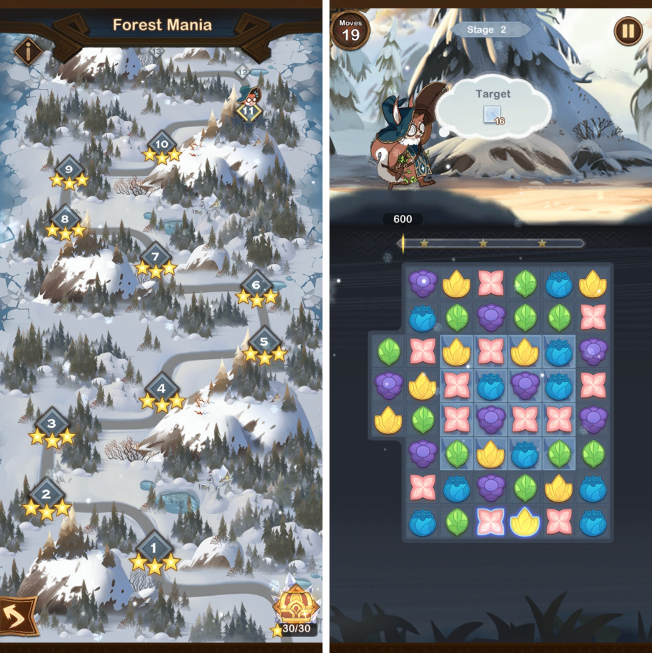 AFK Arena mobile game Match3 feature
