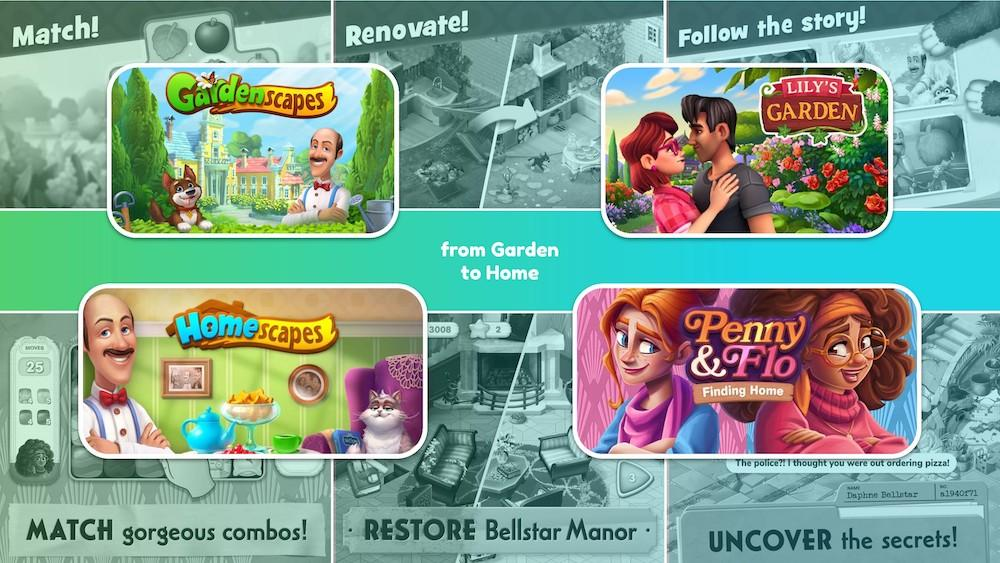 Penny & Flow: Finding Home is a sequel to Gardenscapes, Homescapes, and Lily's Garden