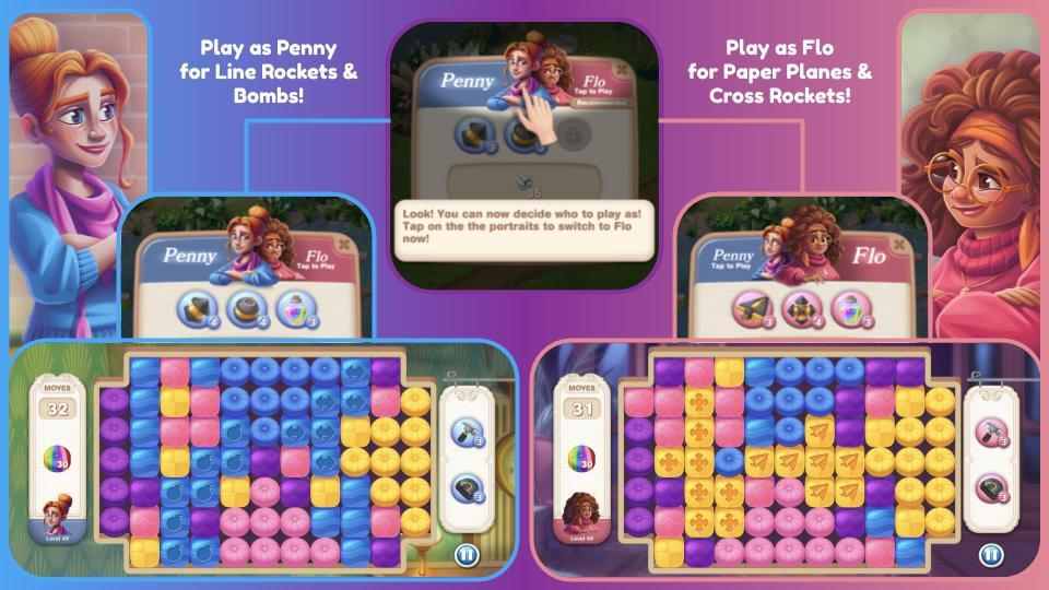 Play as Penny or Flo in Penny & Flo: Finding Home mobile game