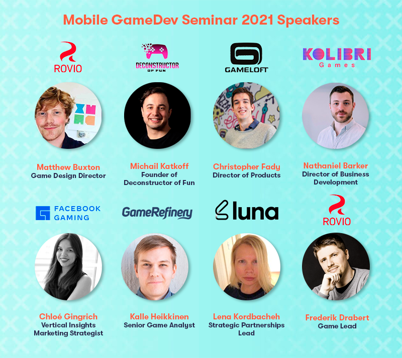 Mobile GameDev Seminar 2021 speaker