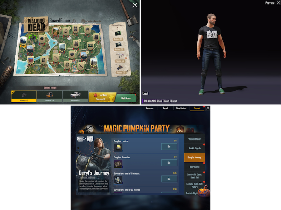 PUBG Mobile's seasonal event content