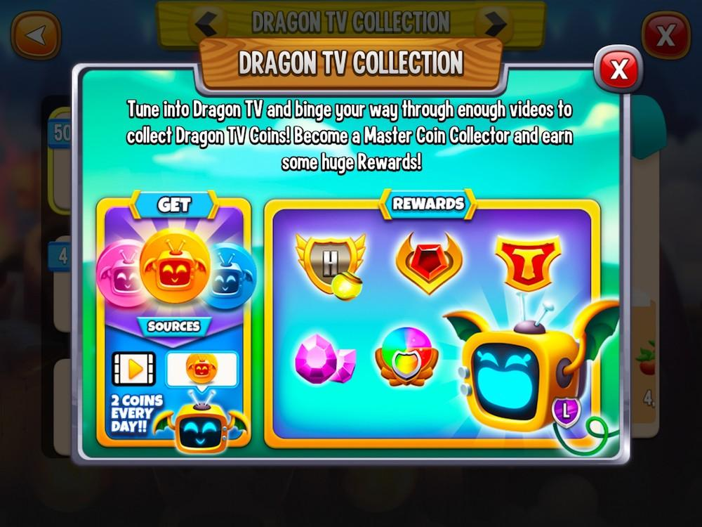 Mobile game Dragon City Mobile's Dragon TV event