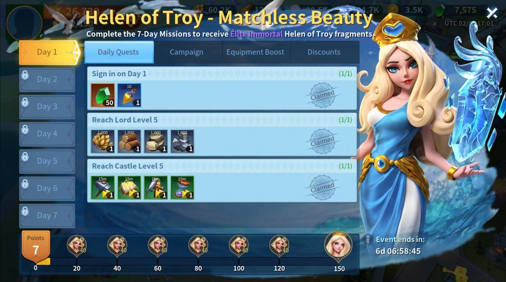 Infinity Kingdom Helen of Troy