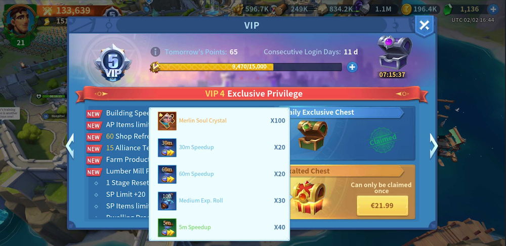 Infinity Kingdom VIP System