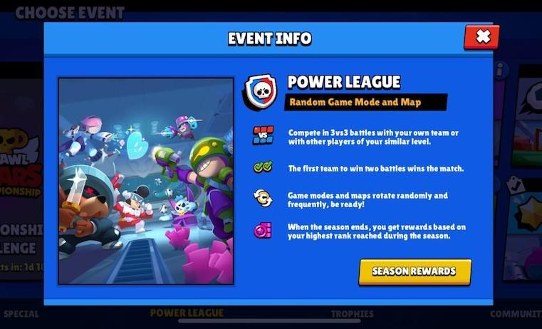 Brawl Stars' new game mode, Power League