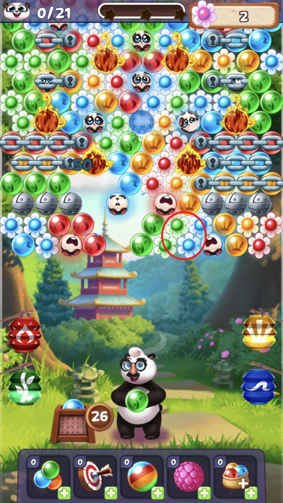Bubble Shooter example