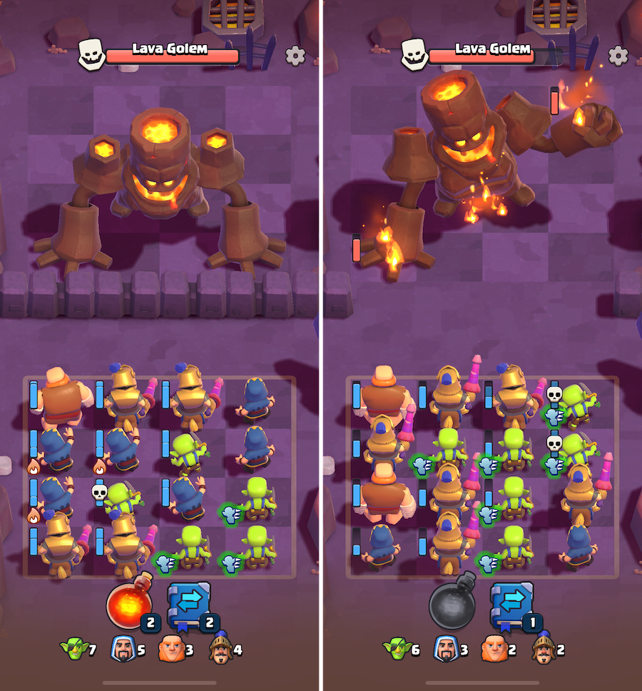 Lava Golem boss fight in Clash Quest