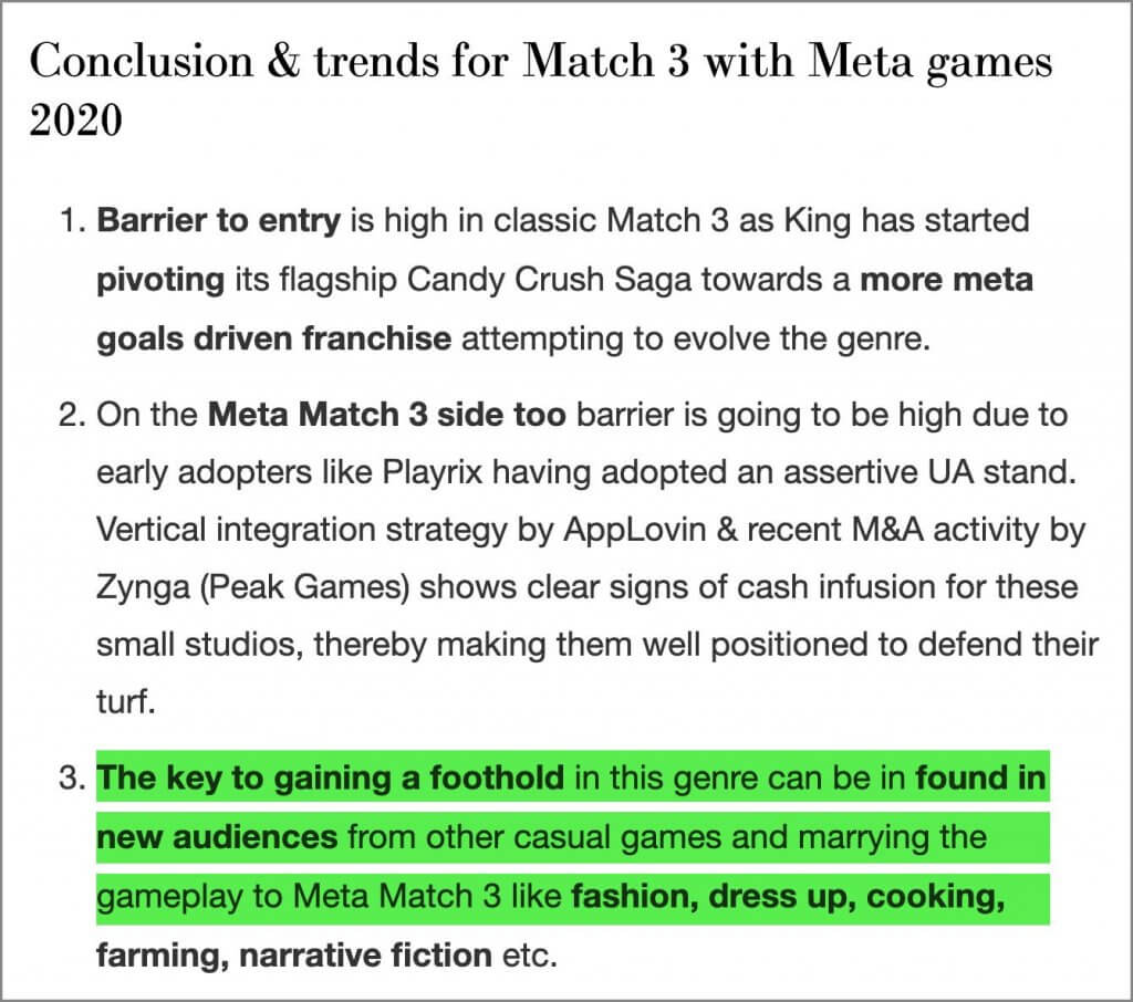 Match3 Trends 2020