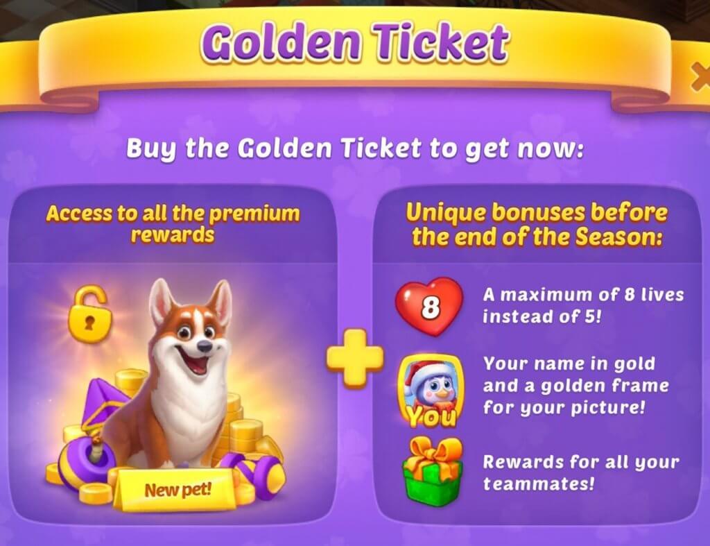 Premium rewards in match3 games