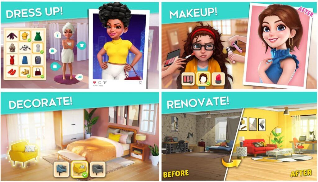 Project Makeover mobile game