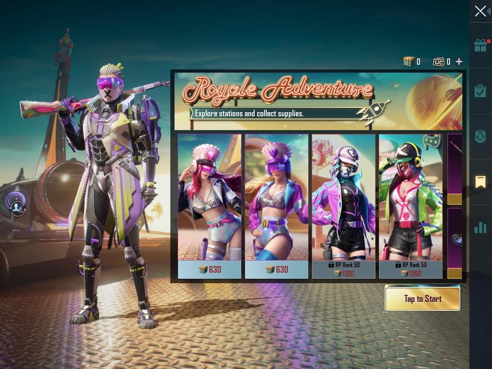 PUBG Mobile Royale Adventure Battle Royale Battle Pass