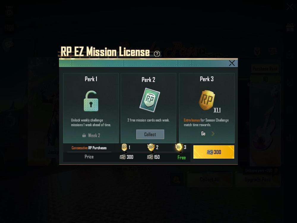 PUBG Mobile RP EZ Mission License