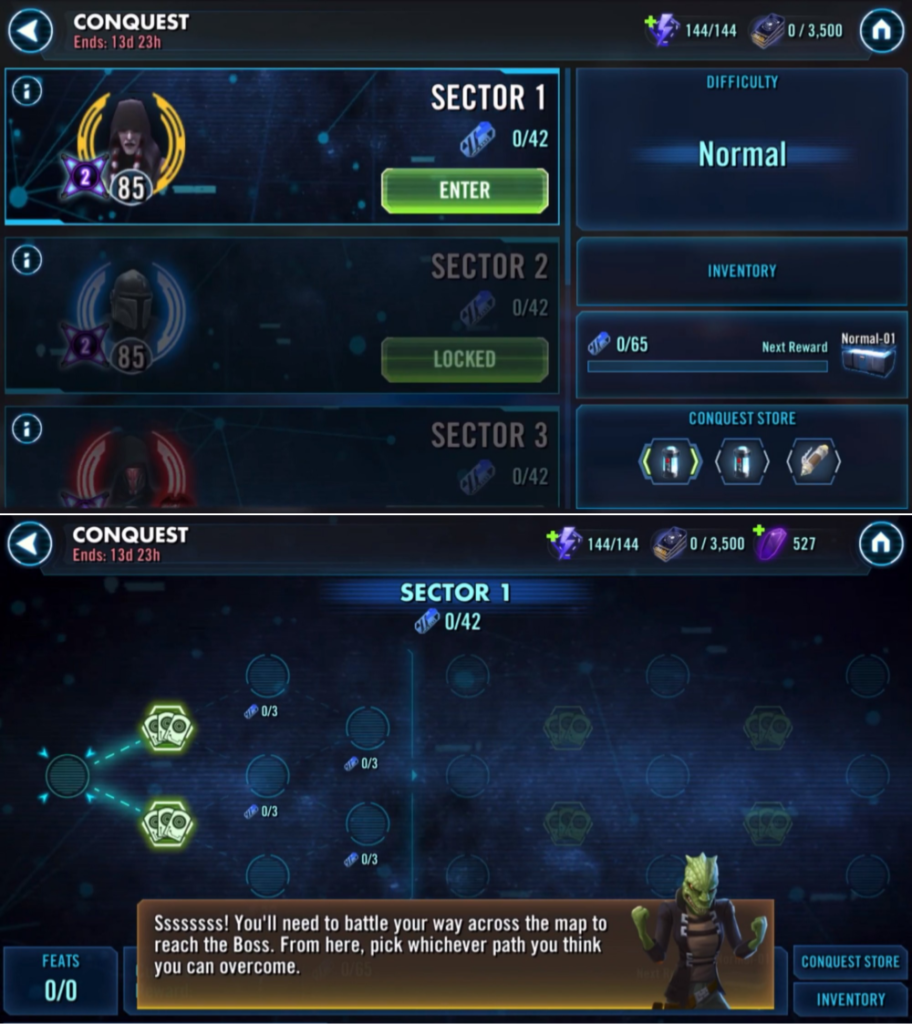 Star Wars: Galaxy of Heroes' new game mode Conquest