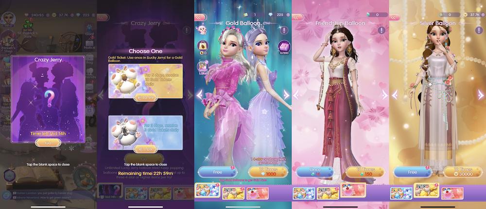 Time Princess Dress Up's gachas