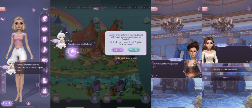 Time Princess: Dress Up dialogue example