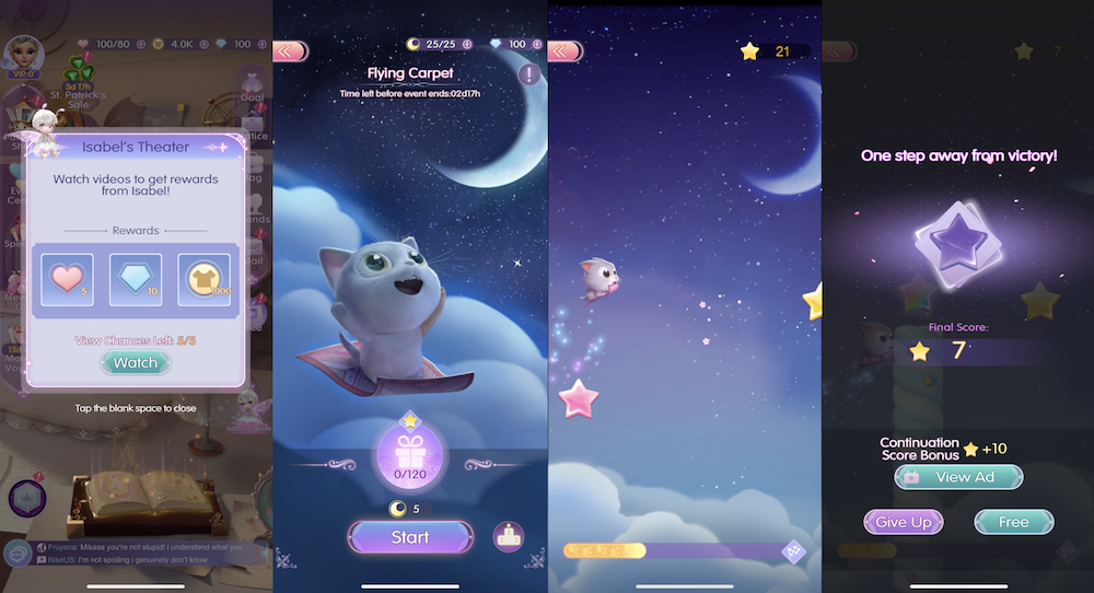Time Princess: Dress Up's in-game ads