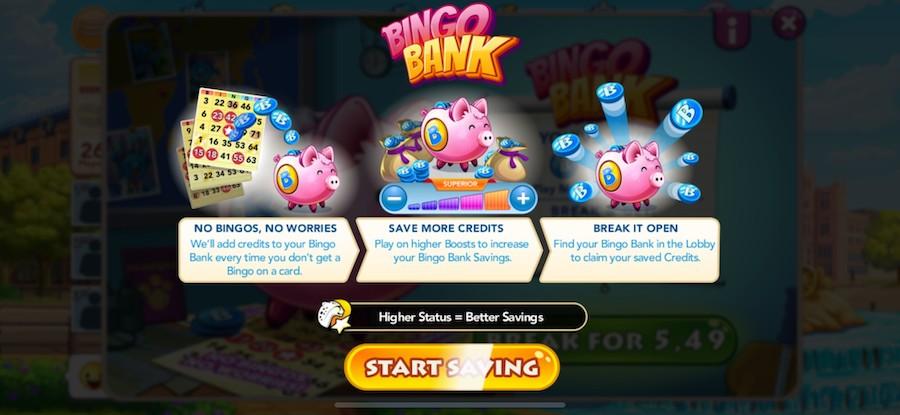 Bingo Bank casino mobile game