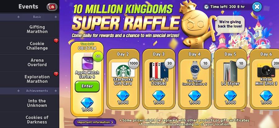 Cookie Run: Kingdom's 21 day Super Raffle