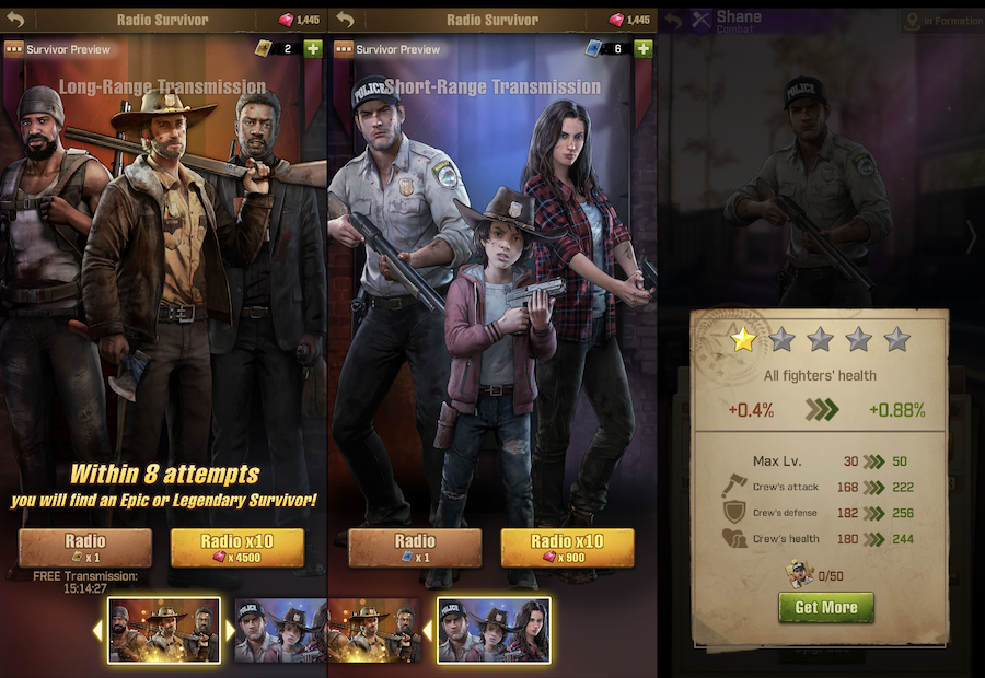 TWD: Survivors character leveling