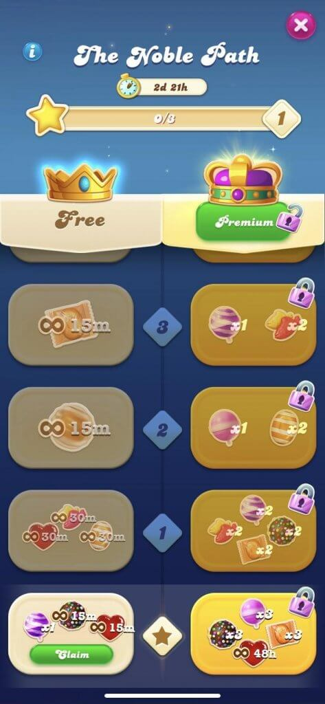Example from the game Candy Crush Soda Saga