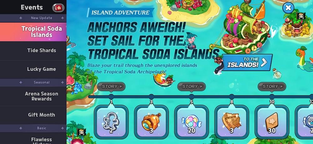Cookie Run: Kingdom's new Tropical Soda Islands game mode