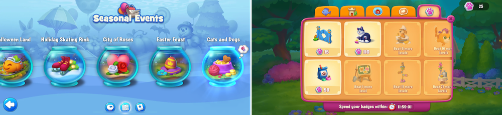 Seasonal event bowl collections in Fishdom mobile game