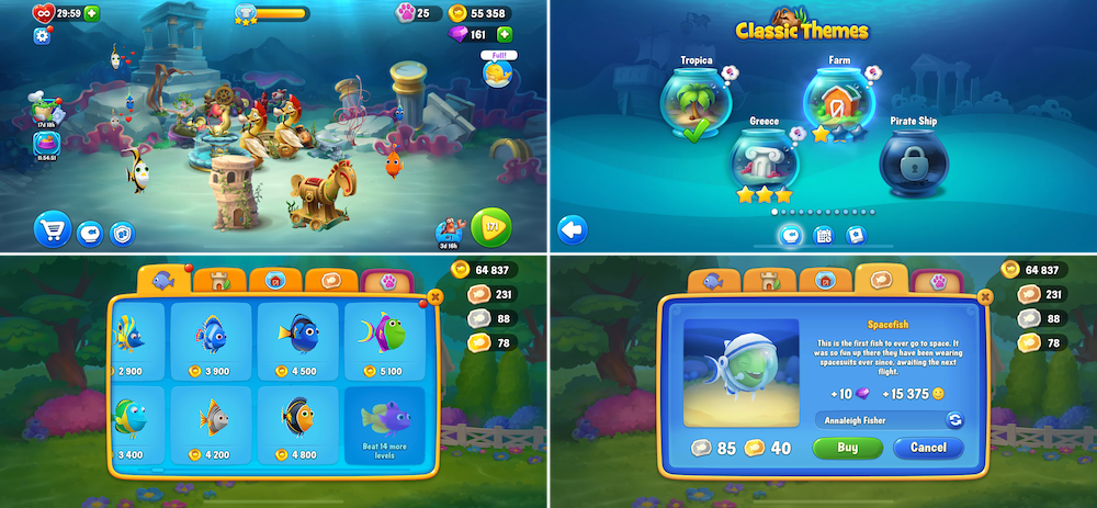 Collection & decoration meta in Fishdom